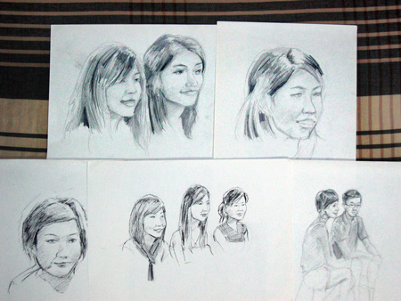 Portrait Day Sketches